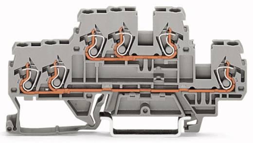 Doppelstock-Durchgangsklemme 5 mm Zugfeder Belegung: L, N Grau WAGO 870-533 50 St.