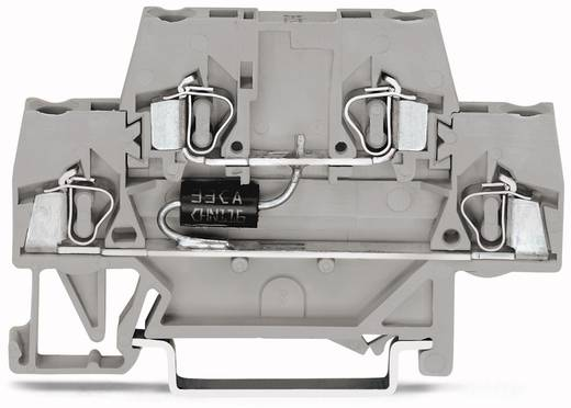 Doppelstock-Diodenklemme 10 mm Zugfeder Belegung: L Grau WAGO 280-944/281-593 50 St.