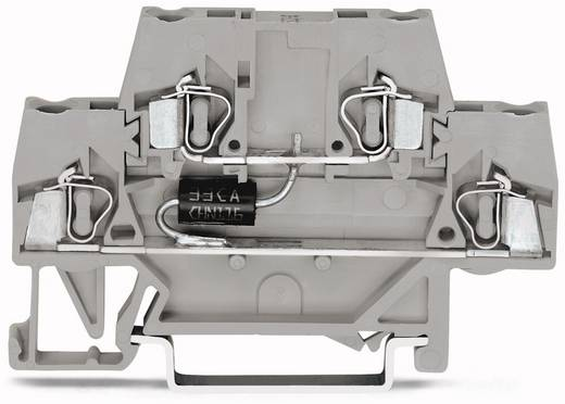 Doppelstock-Diodenklemme 10 mm Zugfeder Belegung: L Grau WAGO 280-944/281-595 50 St.