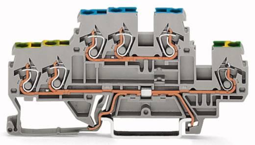 Doppelstock-Schutzleiterklemme 5 mm Zugfeder Belegung: PE, L Grau WAGO 870-536 50 St.