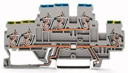 Borne de protection à 2 étages WAGO 870-536 5 mm ressort de traction Affectation des prises: terre, L gris 50 pc(s)