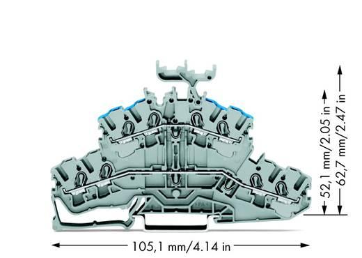 Doppelstock-Durchgangsklemme 5.20 mm Zugfeder Belegung: L, N Grau WAGO 2002-2433 50 St.