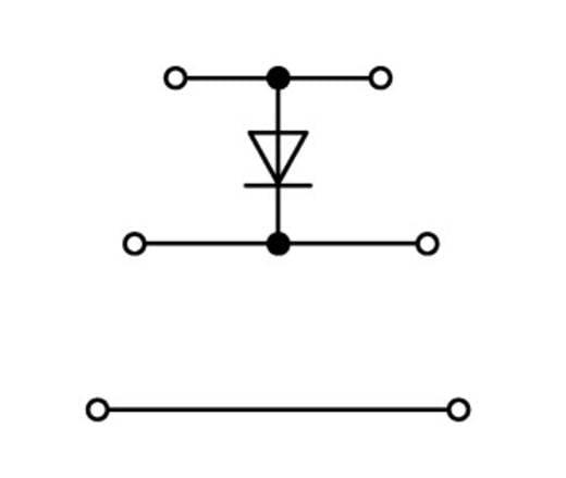 Dreistock-Diodenklemme 5 mm Zugfeder Belegung: L Grau WAGO 870-590/281-411 50 St.