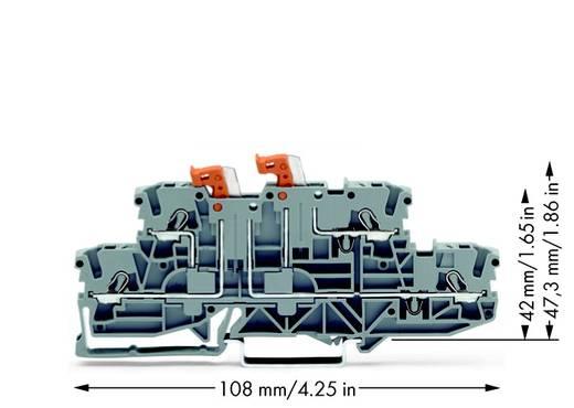 Doppelstock-Trennklemme 5.20 mm Zugfeder Belegung: L, L Grau WAGO 2002-2951 50 St.