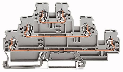 Dreistock-Durchgangsklemme 5 mm Zugfeder Belegung: L, L, N Grau WAGO 870-553 50 St.