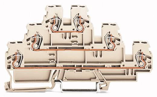 Dreistock-Schutzleiterklemme 5 mm Zugfeder Belegung: PE, L, L Grau WAGO 870-957/999-950 50 St.