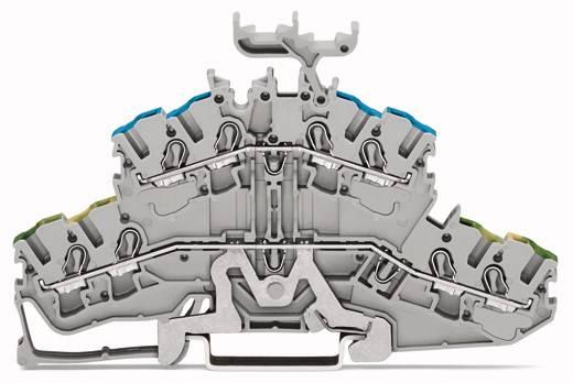 Doppelstock-Schutzleiterklemme 5.20 mm Zugfeder Belegung: PE, L Grau WAGO 2002-2457 50 St.