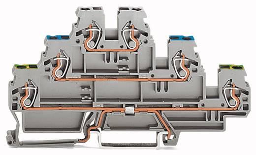 Dreistock-Schutzleiterklemme 5 mm Zugfeder Belegung: PE, N, L Grau WAGO 870-567 50 St.