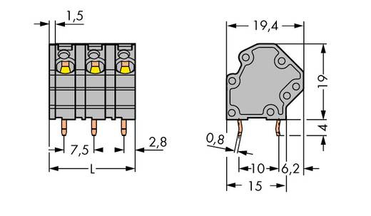 Federkraftklemmblock 4.00 mm² Polzahl 9 745-3159 WAGO Grau 48 St.