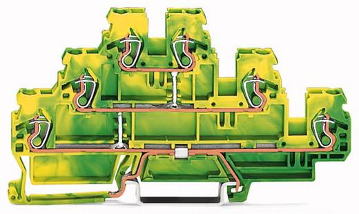 Dreistock-Schutzleiterklemme 5 mm Zugfeder Belegung: PE Grün-Gelb WAGO 870-557 50 St.