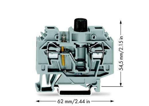 Sicherungsklemme 13 mm Zugfeder Belegung: L Grau WAGO 282-124 40 St.