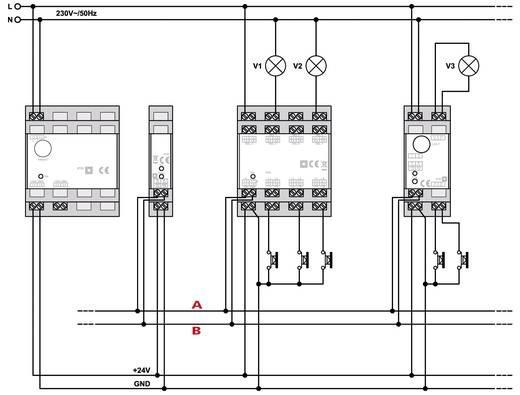HomeMatic RS485 Busabschluss Widerstand 76807 Hutschiene