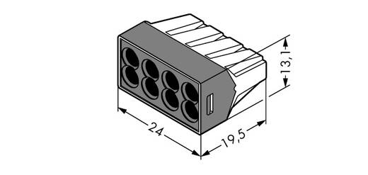 Dosenklemme starr: 0.75-2.5 mm² Polzahl: 8 WAGO 500 St. Transparent