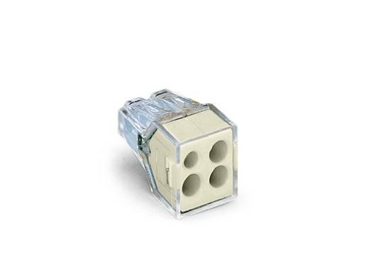 Dosenklemme starr: 0.75-2.5 mm² Polzahl: 4 WAGO 773-124 1000 St. Transparent