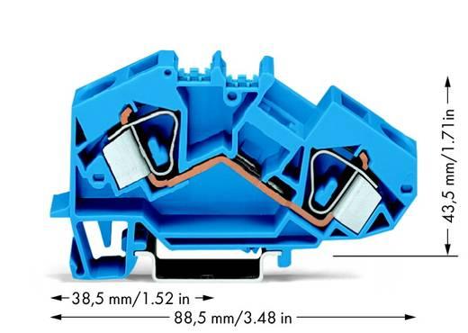 Durchgangsklemme 12 mm Zugfeder Belegung: N Blau WAGO 783-604 25 St.