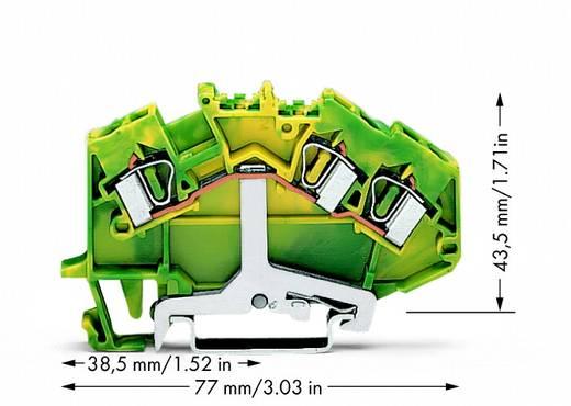 Schutzleiterklemme 6 mm Zugfeder Belegung: PE Grün-Gelb WAGO 781-637 50 St.