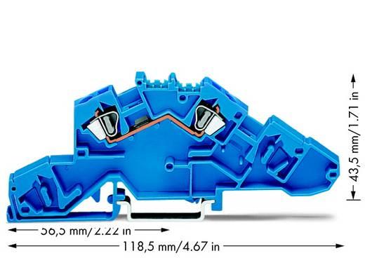 Installationsetagenklemme 6 mm Zugfeder Belegung: N Blau WAGO 777-651 50 St.