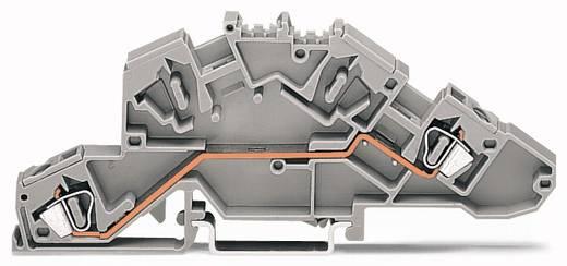 Installationsetagenklemme 6 mm Zugfeder Belegung: L Grau WAGO 777-652 50 St.
