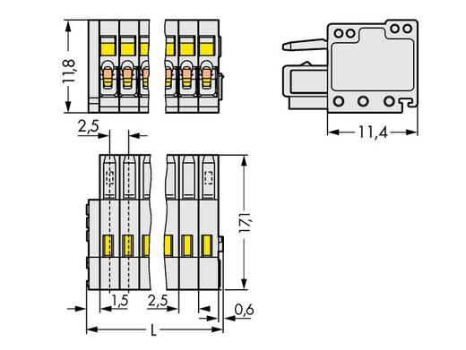Buchsengehäuse-Kabel 733 Polzahl Gesamt 8 WAGO 733-108/000-9037 Rastermaß: 2.50 mm 100 St.