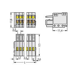 Zásuvkové púzdro na kábel WAGO 733-108/000-9037, 22.10 mm, pólů 8, rozteč 2.50 mm, 100 ks