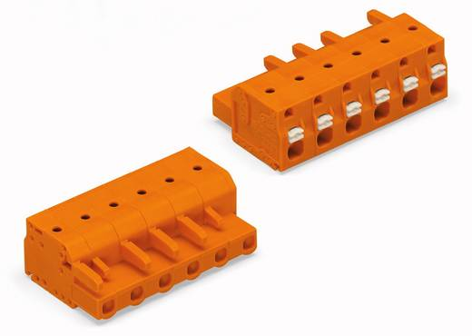 WAGO Buchsengehäuse-Kabel 2231 Polzahl Gesamt 6 Rastermaß: 7.62 mm 2231-706/026-000 50 St.