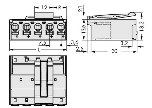 WAGO 2092-3523/002-000 Stiftgehäuse-Platine 2092 Polzahl Gesamt 3 Rastermaß: 7.50 mm 100 St.