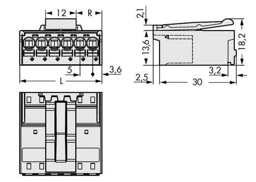 WAGO 2092-1526/002-000 Stiftgehäuse-Platine 2092 Polzahl Gesamt 6 Rastermaß: 5 mm 100 St.