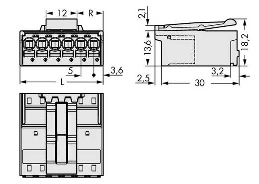 WAGO Stiftgehäuse-Platine 2092 Polzahl Gesamt 3 Rastermaß: 5 mm 2092-1523/002-000 100 St.