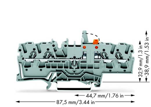 Trennklemme 5.20 mm Zugfeder Belegung: L Grau WAGO 2002-1871/401-000 50 St.