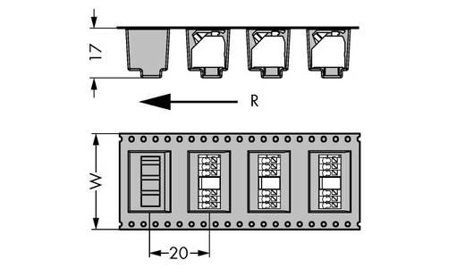 Federkraftklemmblock Polzahl 4 250-204/353-604/997-406 WAGO 160 St.