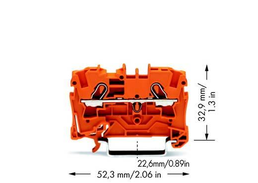 Durchgangsklemme 6.20 mm Zugfeder Orange WAGO 2004-1202 50 St.