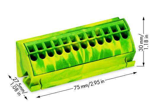 PE-Anschlussblock 4 mm² WAGO Inhalt: 10 St.