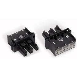 Sieťový konektor WAGO zásuvka, rovná, počet kontaktov: 3, 25 A, 250 V, biela, 45 ks