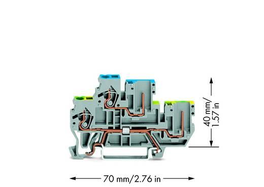 Doppelstock-Basisklemme 5 mm Zugfeder Belegung: L Grau WAGO 870-117 50 St.