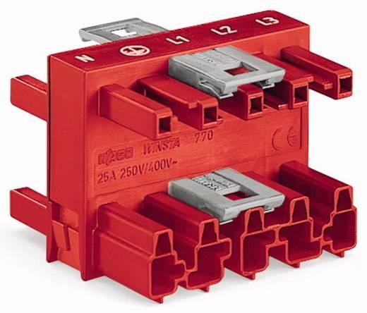 Netz-Verteiler Netz-Stecker - Netz-Buchse, Netz-Buchse, Netz-Buchse Gesamtpolzahl: 5 Rot WAGO 770-909 25 St.