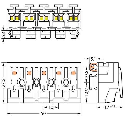 Netzanschlussklemme starr: 0.5-2.5 mm² Polzahl: 5 WAGO 250 St. Weiß