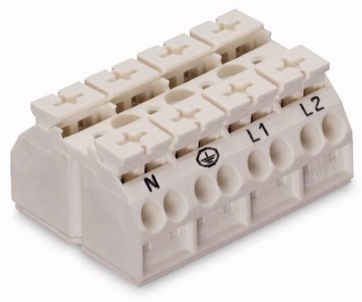 Geräteanschlussklemme Federklemme Weiß WAGO 862-8604 200 St.