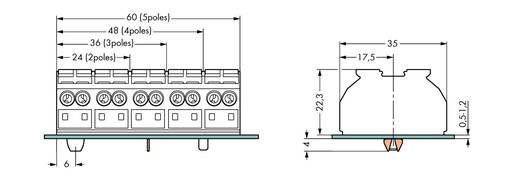 Geräteanschlussklemme Federklemme Weiß WAGO 862-8634 200 St.