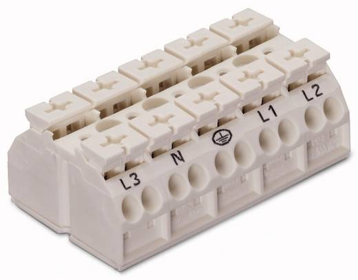 Geräteanschlussklemme Federklemme Weiß WAGO 862-8625 200 St.