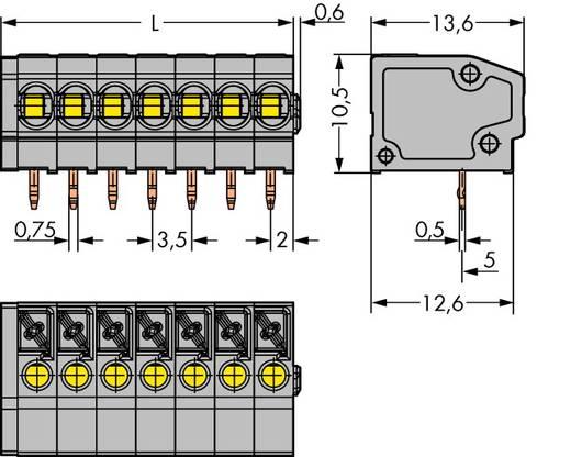 Federkraftklemmblock 1.50 mm² Polzahl 6 WAGO Grau 220 St.