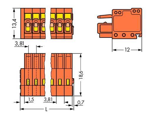 Buchsengehäuse-Kabel 734 Polzahl Gesamt 19 WAGO 734-219 Rastermaß: 3.81 mm 25 St.