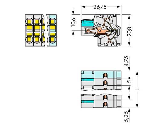 Federleiste 721-2105/026-000/134-000 Gesamtpolzahl 10 Anzahl Reihen 2 WAGO 50 St.