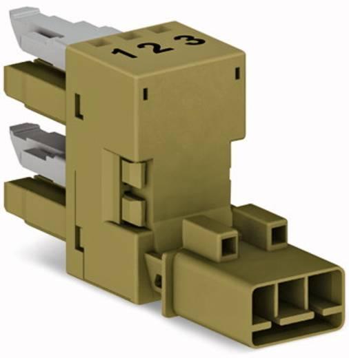 Netz-H-Verteiler Netz-Stecker - Netz-Buchse, Netz-Buchse Gesamtpolzahl: 3 Hellgrün WAGO 50 St.