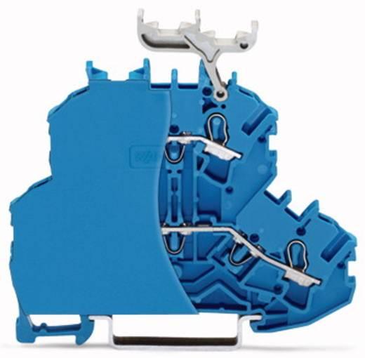 Doppelstock-Durchgangsklemme 6.20 mm Zugfeder Belegung: L, L Blau WAGO 2002-2204/099-000 50 St.
