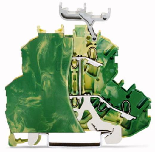Doppelstock-Schutzleiterklemme 6.20 mm Zugfeder Belegung: PE Grün-Gelb WAGO 2002-2207/099-000 50 St.