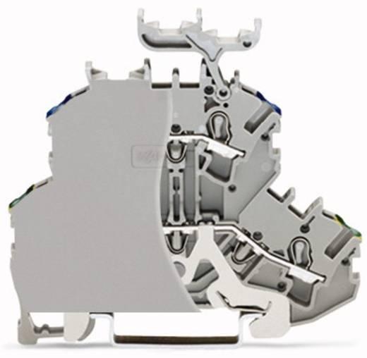 Doppelstock-Durchgangsklemme 4.20 mm Zugfeder Belegung: PE, N Grau WAGO 2002-2217/099-000 50 St.