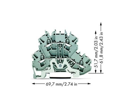 Doppelstock-Durchgangsklemme 5.20 mm Zugfeder Belegung: L Grau WAGO 2002-2228 50 St.
