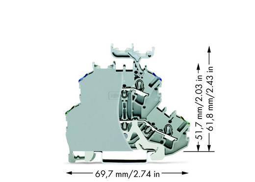 Doppelstock-Durchgangsklemme 4.20 mm Zugfeder Belegung: PE, N Grau WAGO 2002-2247/099-000 50 St.