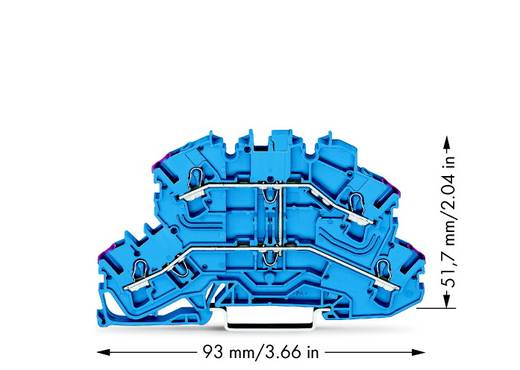 Doppelstock-Durchgangsklemme 5.20 mm Zugfeder Belegung: N Blau WAGO 2002-2609 50 St.
