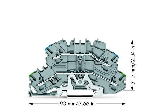 Doppelstock-Schutzleiterklemme 5.20 mm Zugfeder Belegung: PE, N Grau WAGO 2002-2647 25 St.